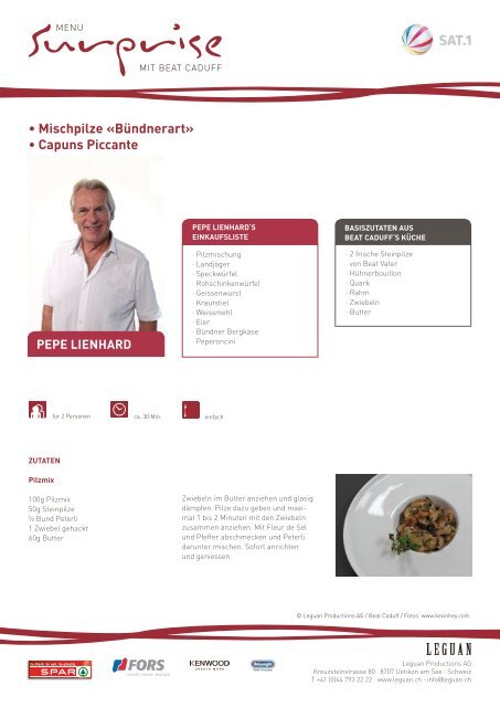• Mischpilze «Bündnerart» • Capuns Piccante