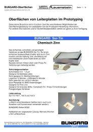 Oberflächen von Leiterplatten im Prototyping - lauenstein ag