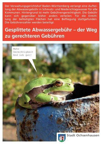 Gesplittete Abwassergebühr - Stadt Ochsenhausen