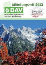 zur Mitgliederinformation PDF - DAV-Sektion Mittenwald