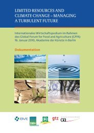 limited resources and climate change – managing a turbulent future
