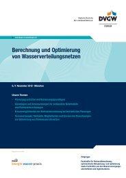 Berechnung und Optimierung von Wasserverteilungsnetzen