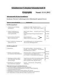 Schulinternes Curriculum der Sek. II - Haranni-Gymnasium Herne