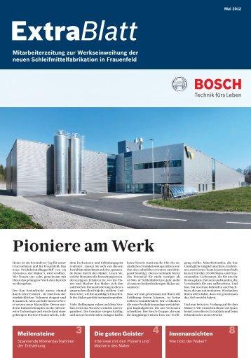 ExtraBlatt Pioniere am Werk - Grossmann Kommunikation