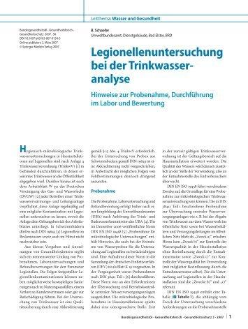 Beurteilungwert - Wasserlabor-Goettingen