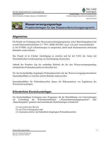 Erforderliche Einreichunterlagen - Technik Steiermark