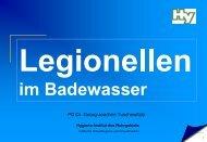 Relevanz und Bewertung von Legionellen im Badewasser