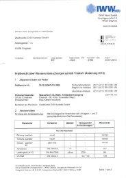 Analyse Wasserwerk Sankt Hülfe - Stadtwerke Huntetal