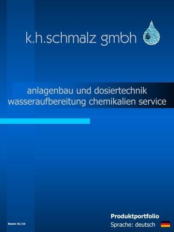 Gesamtprospekt - KH Schmalz GmbH