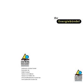 Ihr Energiebündel - Stadtwerke Troisdorf
