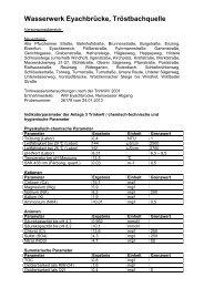 Veröffentlichungen der Wasseruntersuchungen für ... - Neuenbürg