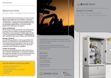 SCHUCK GASSCHRANK Für Gas-, Strom- und ... - Schuck Group