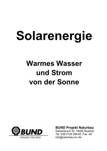 Warmes Wasser und Strom von der Sonne