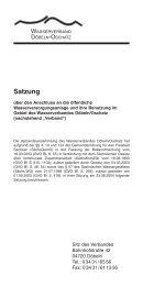 Satzung - Wasserverband Döbeln-Oschatz