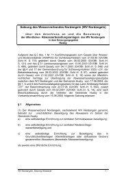 Satzung des Wasserverbandes Nordangeln (WV Nordangeln)