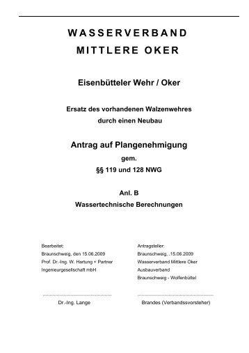 WASSERVERBAND MITTLERE OKER - Stadt Braunschweig