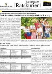 Dank Konjunkturpaket bekommt Schule jetzt ... - Stadt Nordhausen