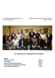 1. Folge, Juni 2010 - Marktgemeinde Bockfließ
