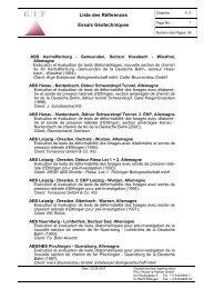Liste des Références Essais Géotechniques - Geotechnisches ...