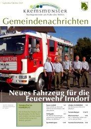 Gemeindenachrichten September/Oktober 2007 - Marktgemeinde ...