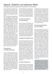 Speere, Sütterlin und seltsame Sitten - Gymnasium Sulingen