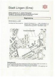 Titelblatt Begründung - Stadt Lingen
