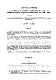 Gestaltungssatzung - Stadt Lauter / Sachsen