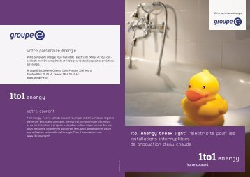 Brochure 1to1 energy break light 2013 - Groupe E