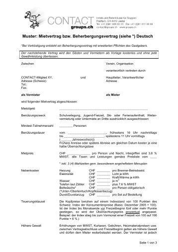 muster mietvertrag pdf contact - Muster Mietvertrag Gewerbe