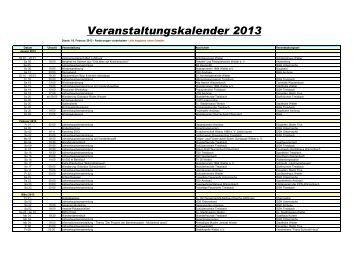 2013 Veranstaltungskalender - Stadt Wetter Hessen