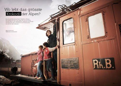 Wo lebt das grösste Krokodil der Alpen - Bahnmuseum Albula