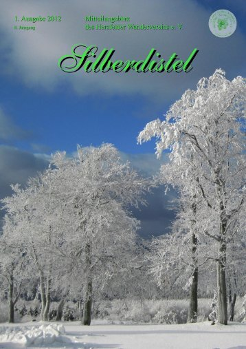 1. Ausgabe 2012 Mitteilungsblatt des Hersfelder Wandervereins e. V.