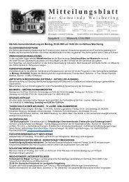 Ausgabe 8 Mittwoch, 13.04.2005 - Weichering