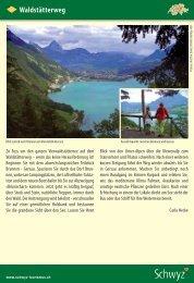 Waldstätterweg - Schwyzer Wanderwege