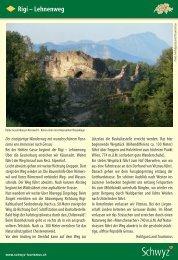 Rigi – Lehnenweg - Schwyzer Wanderwege