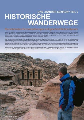 HISTORISCHE WANDERWEGE - Outdoor-Touristik