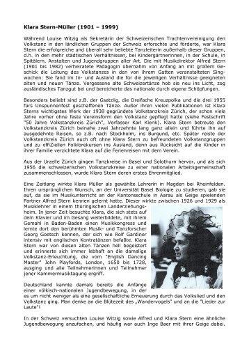 Klara Stern-Müller - Arbeitsgemeinschaft Schweizer Volkstanzkreise ...