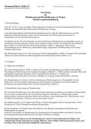 Anweisung zur Markierung - Naturpark Bayerischer Wald
