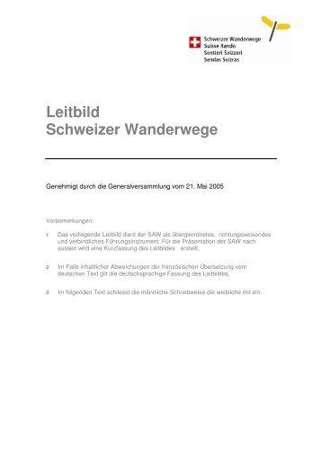 Leitbild - Schweizer Wanderwege