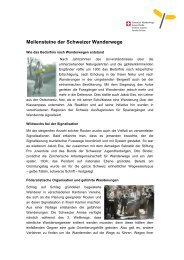 Meilensteine der Schweizer Wanderwege