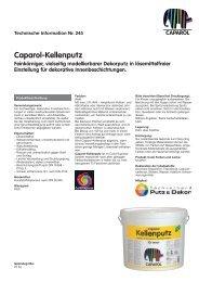 Caparol-Kellenputz Feinkörniger, vielseitig modellierbarer