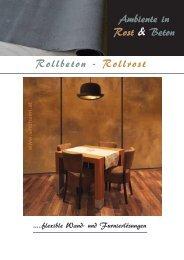 Ambiente in Rost & Beton Rollbeton - Rollrost - Sindheim.at