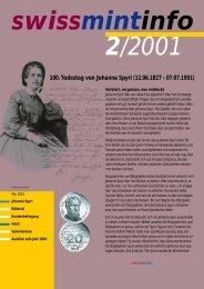100. Todestag von Johanna Spyri (12.06.1827 - 07.07 ... - Swissmint