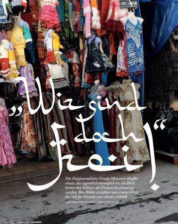Ein Frauenleben in Jemen, Emotion, 9/2010 (PDF - Ursula Meissner