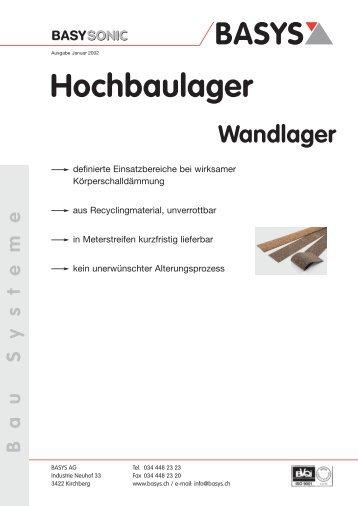 Wandlager - Basys AG