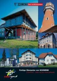 Farbige Oberputze von SCHWENK {ColorPoint – Farbe auf den ...