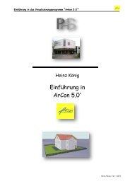 Einführung in ArCon 5.0+ - Philipp-Holzmann-Schule