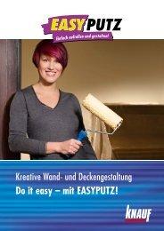 Do it easy – mit EASYPUTZ! - Knauf FormBar