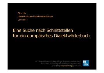 """Sind die oberdeutschen Wörterbücher """"EU-reif""""? - Berlin ..."""