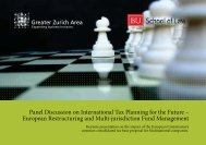 Panel Discussion on International Tax Planning for the Future ...